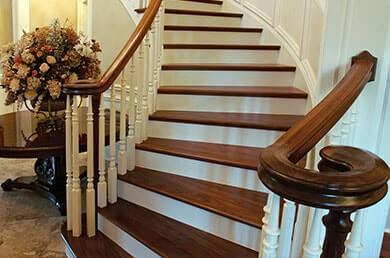 Sablage d'escalier sans poussières