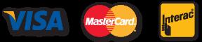 Paiement accepté Visa Mastercard interac