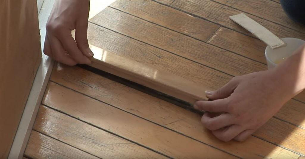Réparation plancher de bois