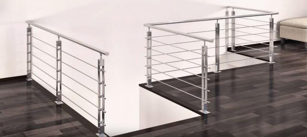 Rampe escalier en acier